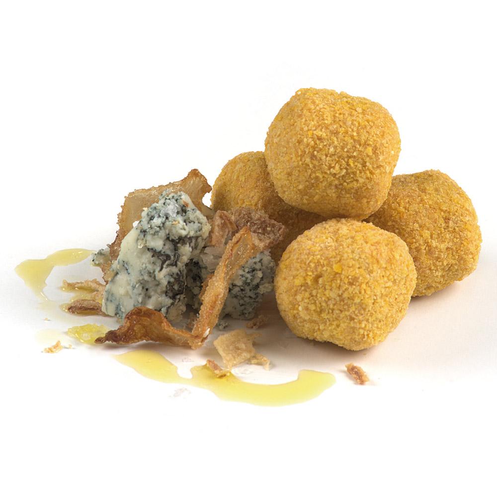 La Botiga dels canelons Crossandra - Croquetes de cabrales amb ceba caramel·litzada