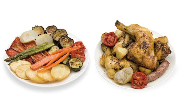 La Botiga dels canelons Crossandra - Patates, pebrot, albergínia, carbassó, pastanaga, ceba, tomàquet i espàrrecs